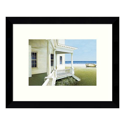Deserted Coastal Cottage Framed Wall Art