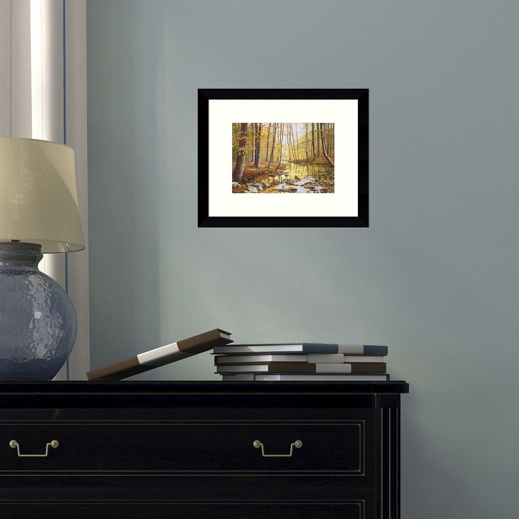 Golden Flow Forest Framed Wall Art