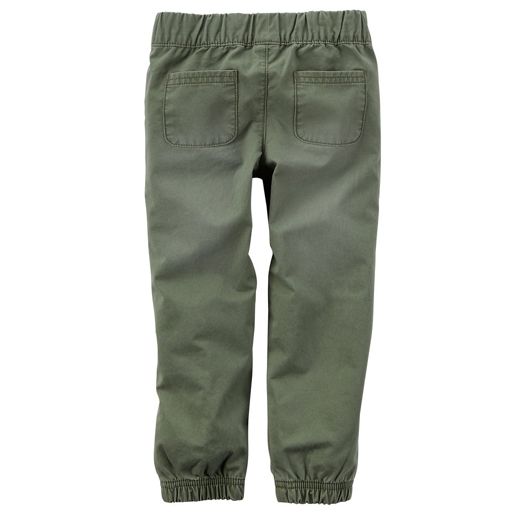 Girls 4-8 Carter's Olive Jogger Pants