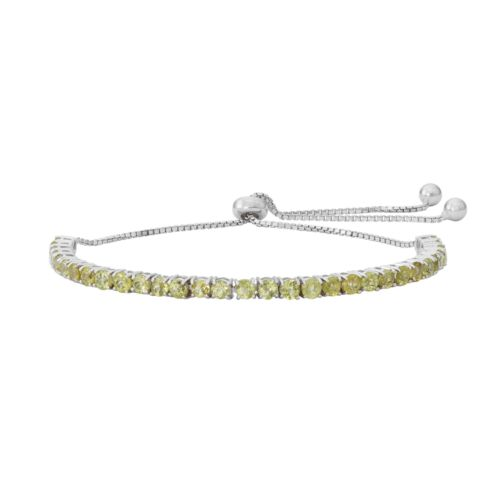 Sterling Silver Peridot Lariat Bracelet