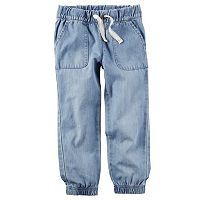 Girls 4-8 Carter's Chambray Denim Jogger Pants