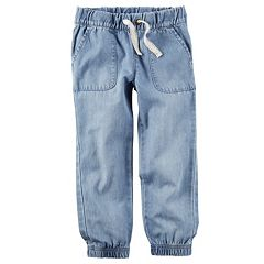 Girls 4-8 Carter's Chambray Denim Jogger Pants