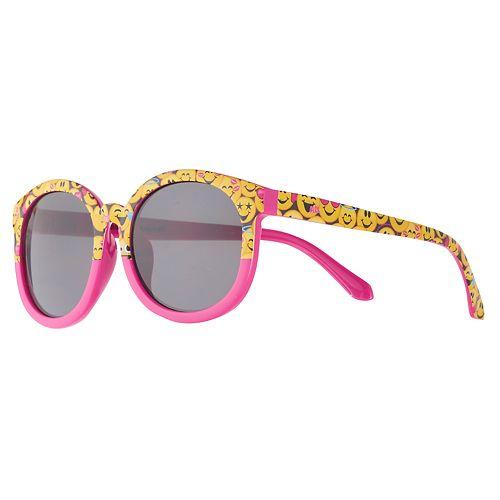 Girls 4-6x Emoji Round Sunglasses