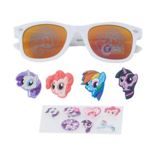 Girls 4-6x My Little Pony Twilight Sparkle, Rarity & Rainbow Dash 3D Character Retro Square Sunglasses