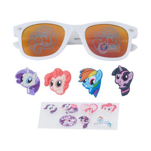 Girls 4-6x My Little Pony Twilight Sparkle, Rarity & Rainbow Dash 3D Character Retro Square Sunglasses