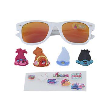 Girls 4-6x DreamWorks Trolls Poppy, Branch, Creek & DJ Suki 3D Character Retro Square Sunglasses