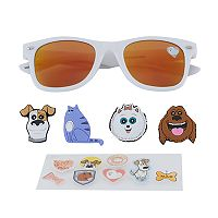 Girls 4-6x DreamWorks The Secret Life of Pets Max, Gidget, Chloe & Duke 3D Character Retro Square Sunglasses