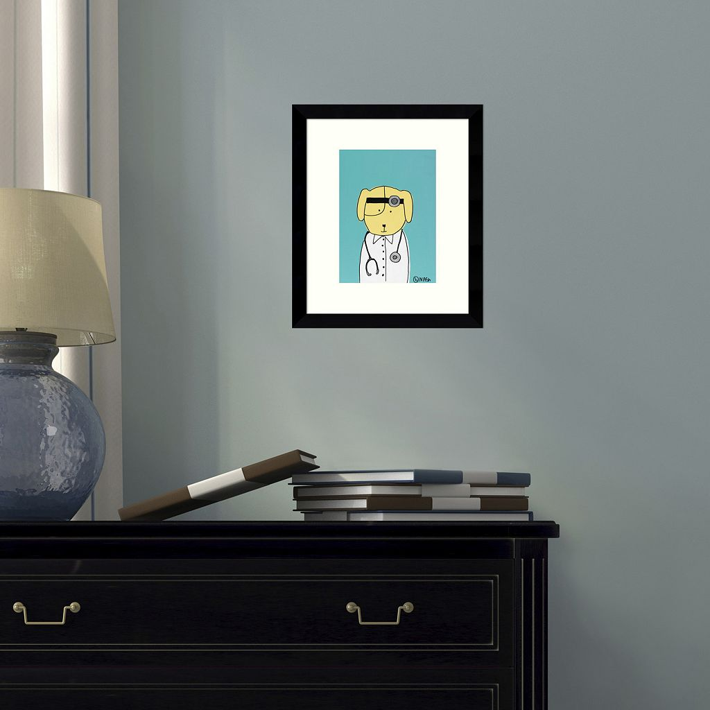 Yellow Dog Doc Framed Wall Art