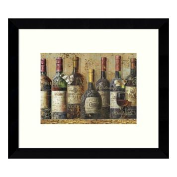 Wine Collection I Framed Wall Art