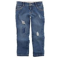 Girls 4-8 Carter's Distressed Loose-Fit Jeans
