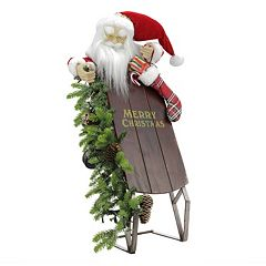 Musical Light-Up Santa & Sleigh Christmas Decor
