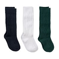 Girls 7-11 Trimfit 3-pk. Cable Knit Knee-High Socks