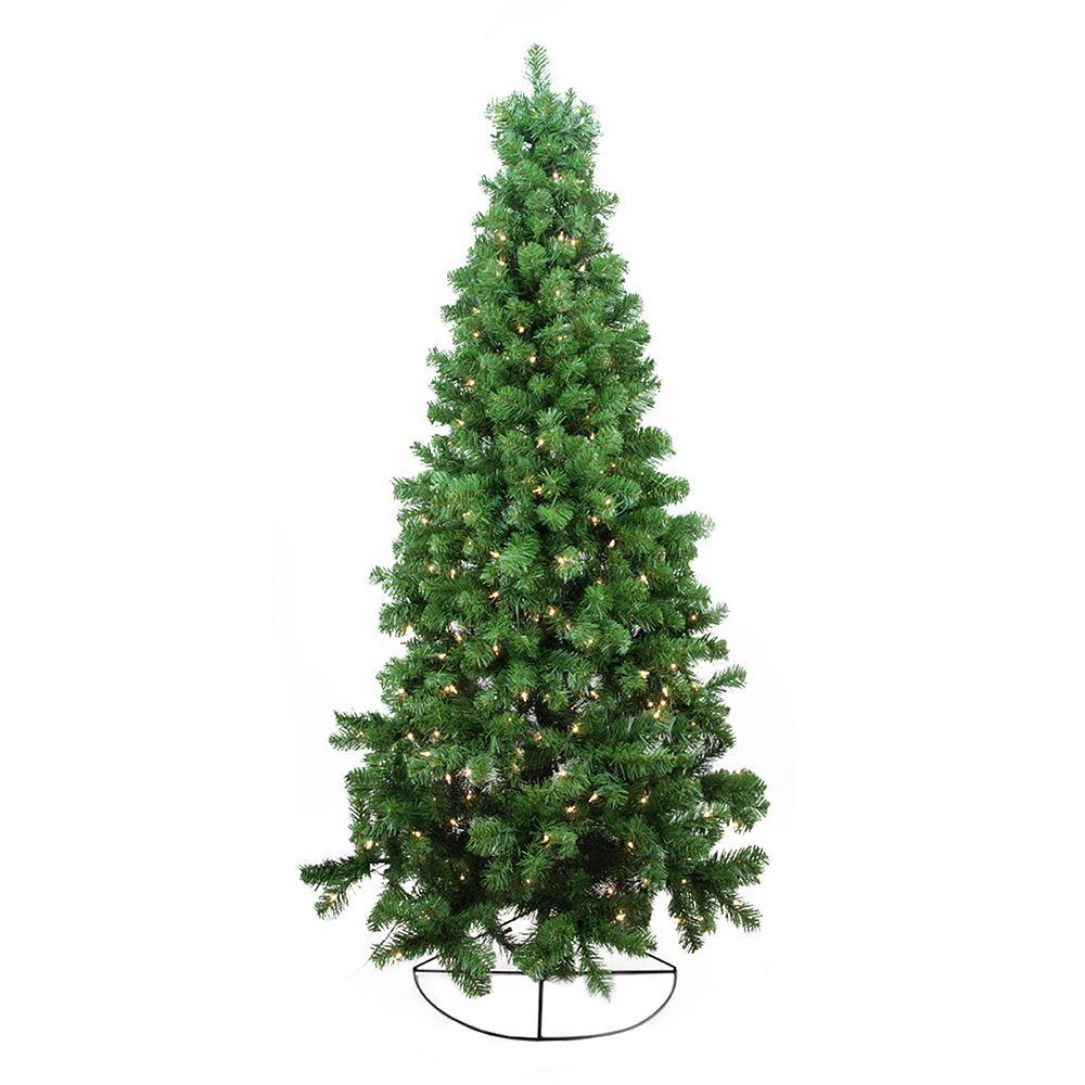 pre lit artificial half christmas tree - Half Christmas Trees