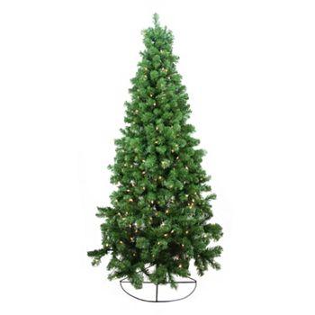 Pre Lit Artificial Half Christmas Tree