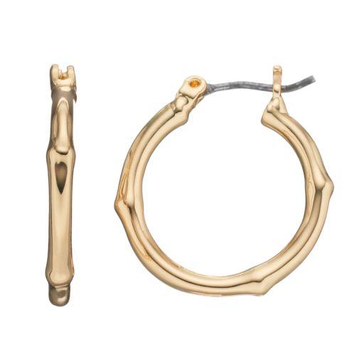 Dana Buchman Bamboo Hoop Earrings