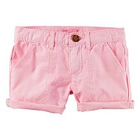 Girls 4-8 Carter's Light Pink Twill Shorts