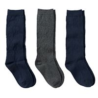 Girls 6-10 Trimfit 3 pkSolid Knee-High Socks