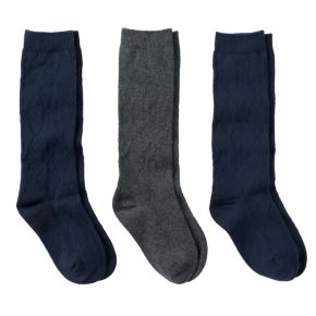 Girls 6-10 Trimfit 3-pk. Solid Knee-High Socks