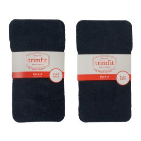 Girls 2-14 Trimfit 2-pk. Flat Knit Tights