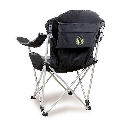 Picnic Time Milwaukee Bucks Reclining Camp Chair