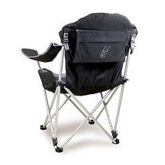 Picnic Time San Antonio Spurs Reclining Camp Chair
