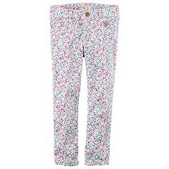 Girls 4-8 Carter's Floral Skinny Stretch Twill Pants
