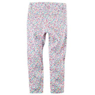Girls 4-6x Carter's Floral Skinny Stretch Twill Pants