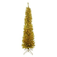6-ft. Artificial Gold Finish Tinsel Christmas Tree