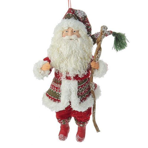 Kurt Adler Fairisle Santa Christmas Ornament