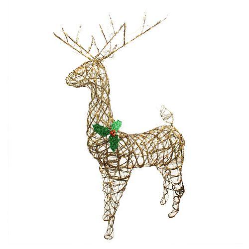 Christmas Deer Decorations Yard: Pre-Lit Standing Reindeer Outdoor Christmas Decor