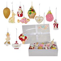 Kurt Adler 12-piece Noble Gems Wedding Ornament Set