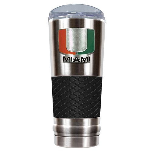 Miami Hurricanes 24-Ounce Draft Stainless Steel Tumbler