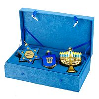 Kurt Adler 3-pc. Noble Gems Hanukkah Ornament Set