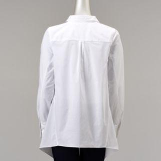 Petite Simply Vera Vera Wang Handkerchief Blouse