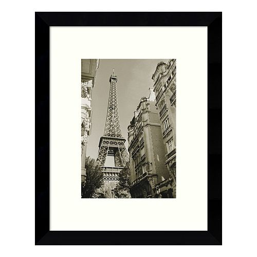 Eiffel Tower Street View #1 Framed Wall Art