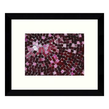 Marsala Radial Framed Wall Art