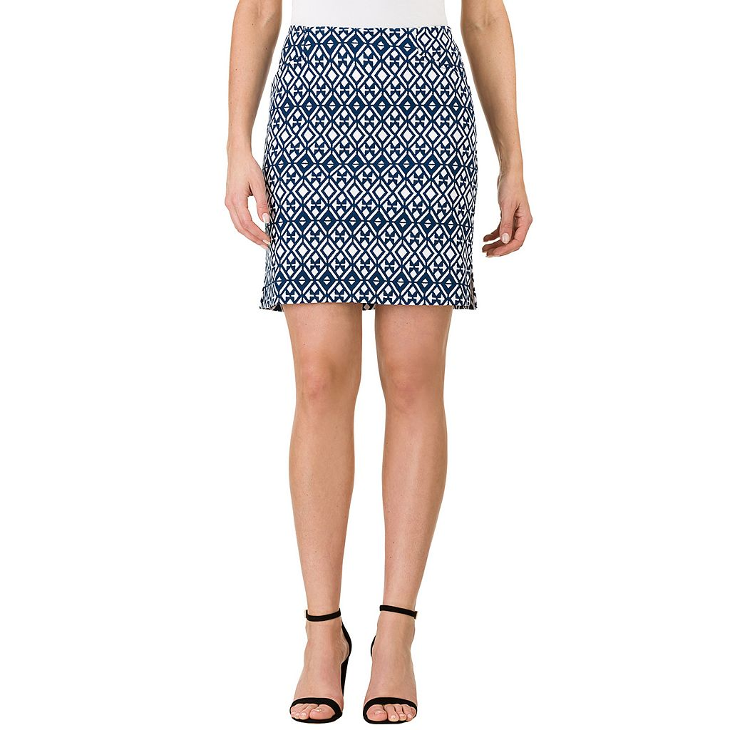 Women's Haggar Print Pull-On Skort