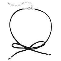 Apt. 9® Black Front Tie Faux Suede Choker Necklace