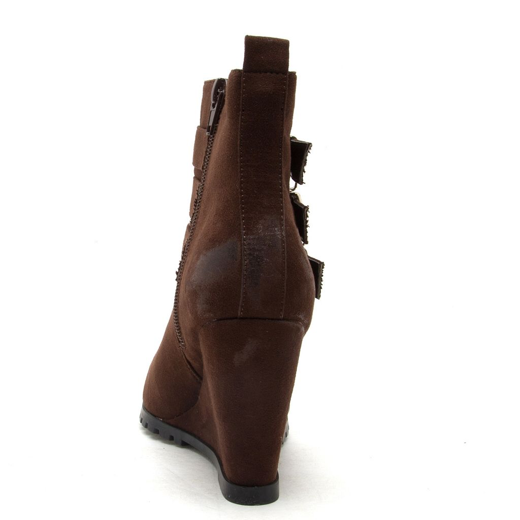 Qupid Tustin Women's Wedge Ankle Boots