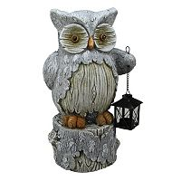 Rustic Owl Table Decor