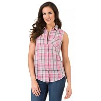 Women's Haggar Sleeveless Button-Down Shirt