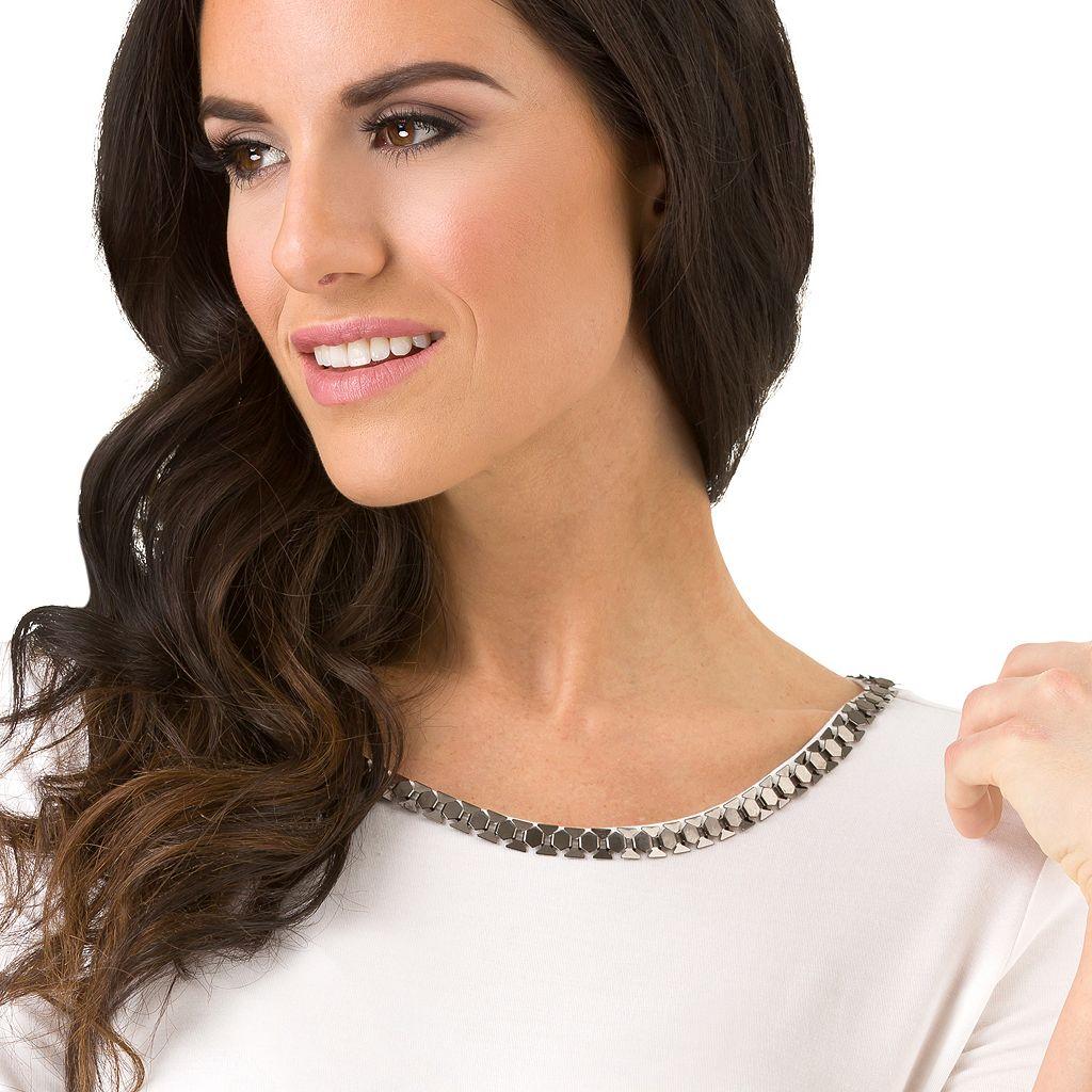 Women's Haggar Chain Neck Tunic Top
