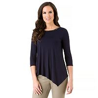 Women's Haggar Chain Neck Tunic Top