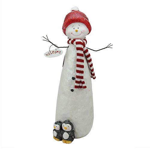 Glitter Snowman & Penguins Christmas Table Decor
