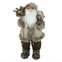 32-in. Alpine Standing Santa Christmas Decor