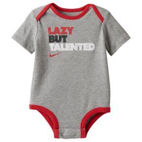 "Baby Boy Nike ""Lazy But Talented"" Bodysuit"