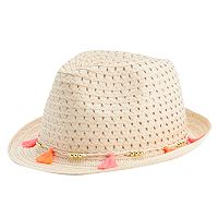 Girls 4-16 Tassel Trim Fedora