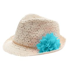 Girls 4-16 Crochet Fedora