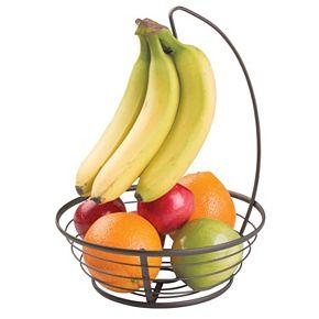 InterDesign Axis Fruit Bowl with Banana Hanger | null