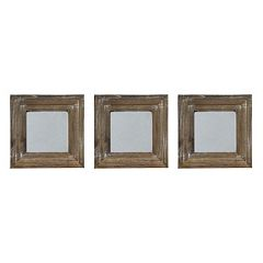 New View Gray Wash Square 3 pc Wall Mirror Set